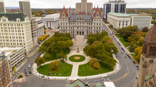 Fall Season New York Statehouse Capitol Building in Albany Fototapet