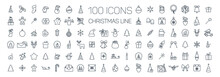 Christmas Line Web 100 Icons S...