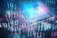 Quantum Computing Concept. Cir...