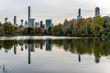 New York City's Uptown Buildings Reflected in Central Park's Pond