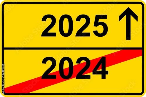 Fotografia  181120-Ortsschild-Jahreswechsel-2024-2025