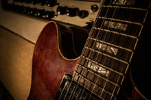 Vintage Electric Guitar & Amplifier