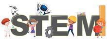 Children With STEM Logo