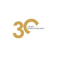 30 Year Anniversary Vector Tem...