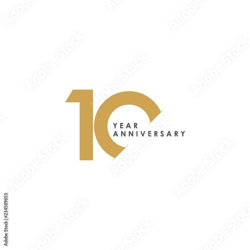 Fotografie, Obraz  10 Year Anniversary Vector Template Design Illustration