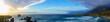 Wide Panoramic beach, Big Sur, CA
