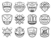 Repair Service And Work Tools Icons