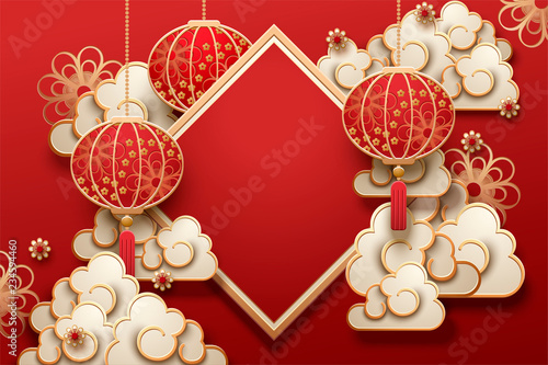 Fotografía  Traditional lunar year background