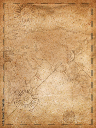 Foto op Canvas Wereldkaart Old world map in vintage style