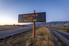 Keep Calm And Drive On Road Sign