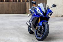 Blue Black Sports Motorcycle F...