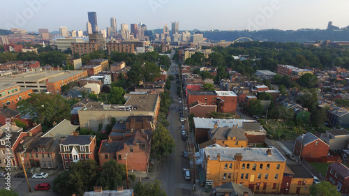 Arch Street in the Allegheny City Central section of Pittsburgh's North Side Canvas Print