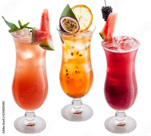 Fotografia, Obraz The original cocktail of fruit on white background