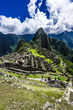 The ancient walls of Machu Picchu