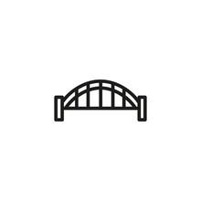 Sydney Harbor Bridge Line Icon...