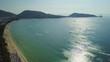 sunny day phuket island famous patong beach coastline aerial panorama 4k thailand