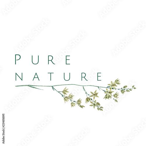 Pure nature logo design vector Wall mural