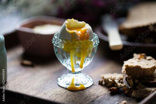 Organic free range egg for breakfast