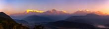 Machapuchare (Fish Tail) And Annapurna Range Mountains