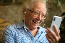 Cheerful Senior Woman Making A...