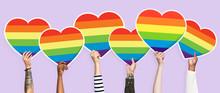 Hands Holding A Lgbt Rainbow H...