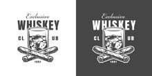 Vintage Whisky Bar Emblem