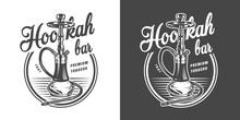 Vintage Monochrome Hookah Loun...