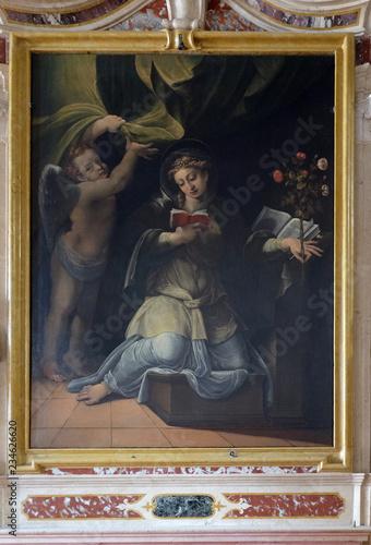 Slika na platnu Saint Speciosa of Pavia, altarpiece in Mantua Cathedral dedicated to Saint Peter