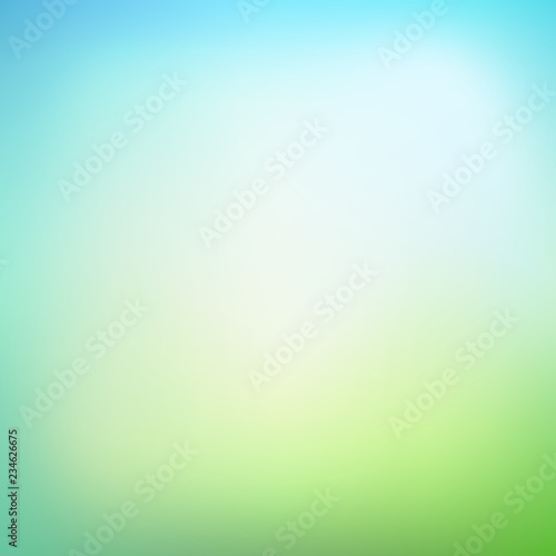 Abstract blurred gradient mesh background in green colors. Smoot Fototapete