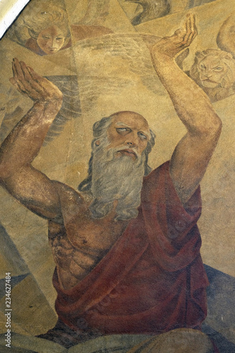 Photo  Prophet Ezekiel, fresco in the church of St