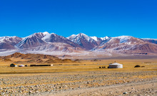 View Of Mongolian Ger With The...