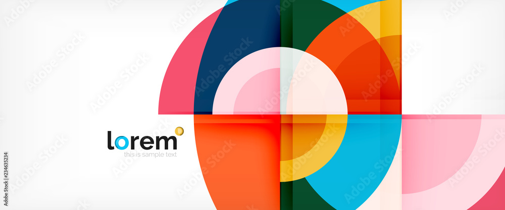 Fototapeta Circle abstract background, geometric modern design template