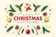 Vector Christmas Background Ho...