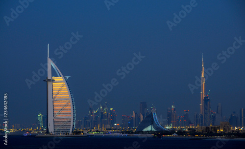 Dubai Skyline view Canvas Print
