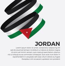 Jordan Flag For Decorative.Vec...