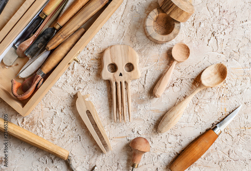 Unfinished Wooden Items Buy This Stock Photo And Explore Similar