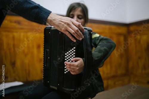 Accordion Lesson Tapéta, Fotótapéta