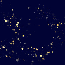 Gold Falling Star Sparkles Of Glitter Gradient