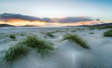 Sunset At Luskentyre Beach