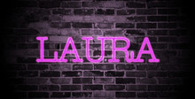 First Name Laura In Pink Neon ...