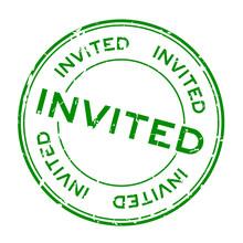 Grunge Green Invited Word Roun...
