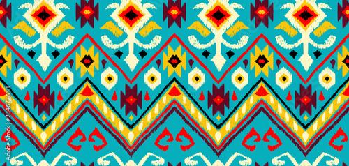 Photographie Ikat geometric folklore pattern.