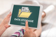 Data storage concept on a tablet