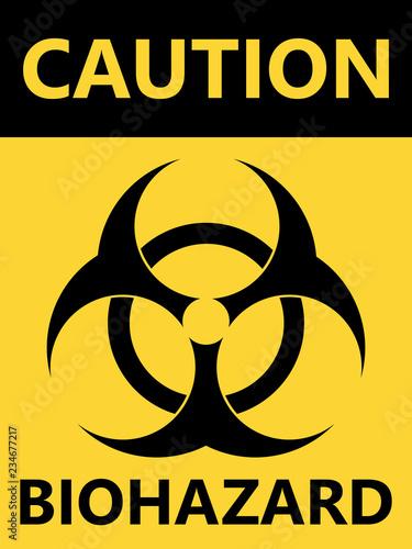 Biohazard symbol sign of biological threat alert Canvas Print