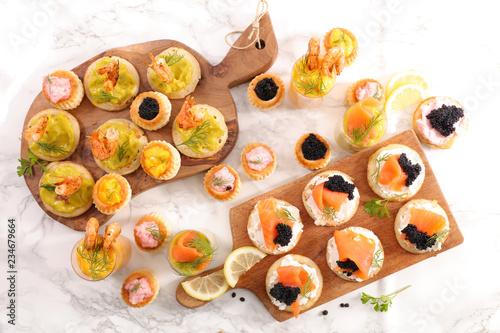 Fotomural finger food- buffet