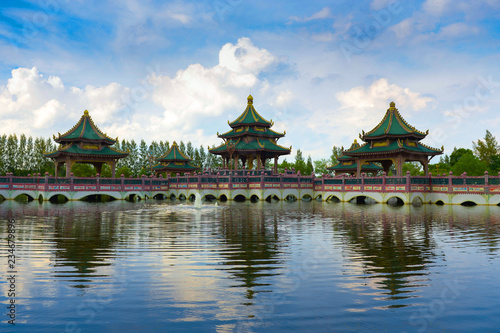 Ingelijste posters Beijing The beautiful temple inside Ancient city in Bangkok, Thailand.