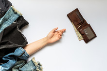 Shopaholic Concept. Female Han...