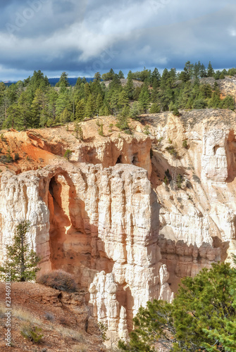 Spoed Foto op Canvas Cappuccino These photos taken on Thursday and Friday, Oct 4th & 5th, 2018 show the spectacular landscape of Bryce Canyon National Park at different point of viewing