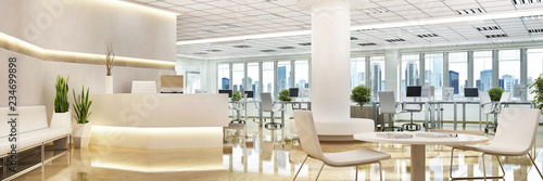 Fotografia Large office with a reception area
