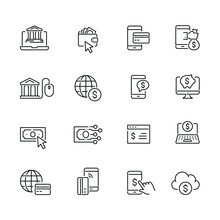 Online Banking Related Icons: ...